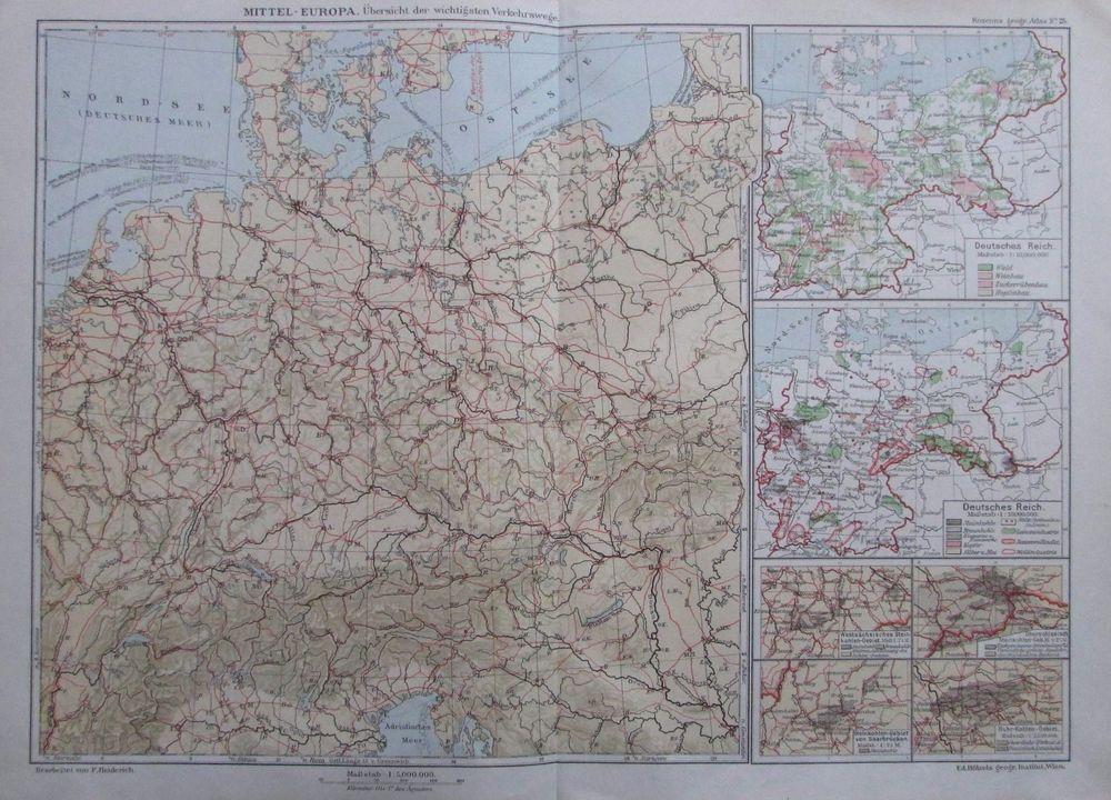 Orden Deutsches Reich Europa Welt Chromolithographie 1894 historischer Druck