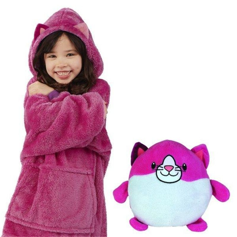 Huggle Pets Hoodie Dinosaur Hooded Sweatshirt Warm Winter Hooded Coats Bathrobe Fleece Pullover For Children For Christmas Gift Jumpsuit For Kids Hooded Sweatshirts Hooded Winter Coat