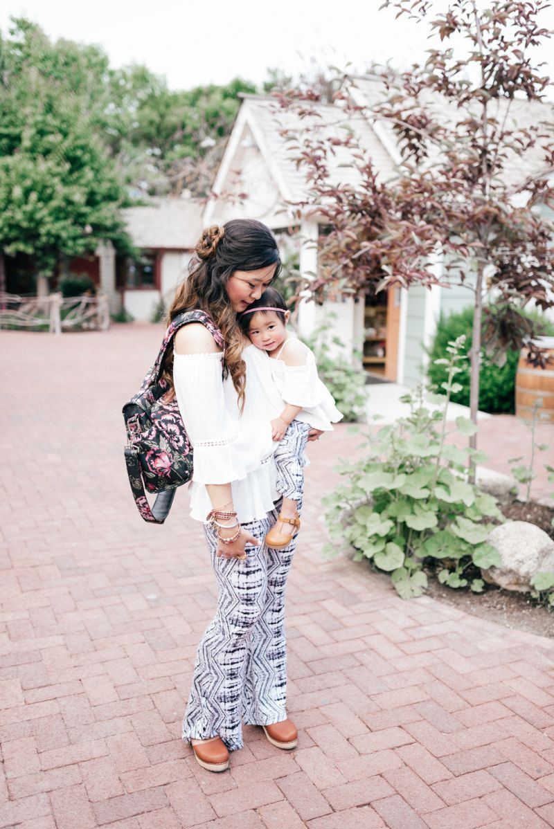 d8672af0268 Mommy and Me Style  White Tops and Bell Bottoms