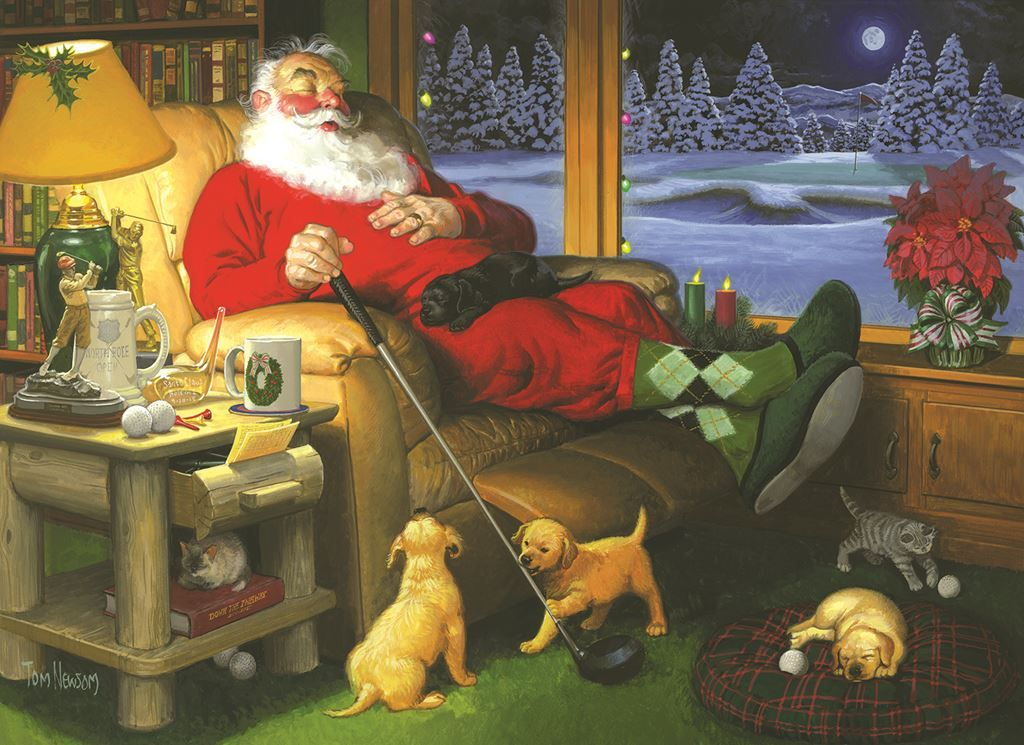 Golfing Santa (500 Large Piece Puzzle by SunsOut)