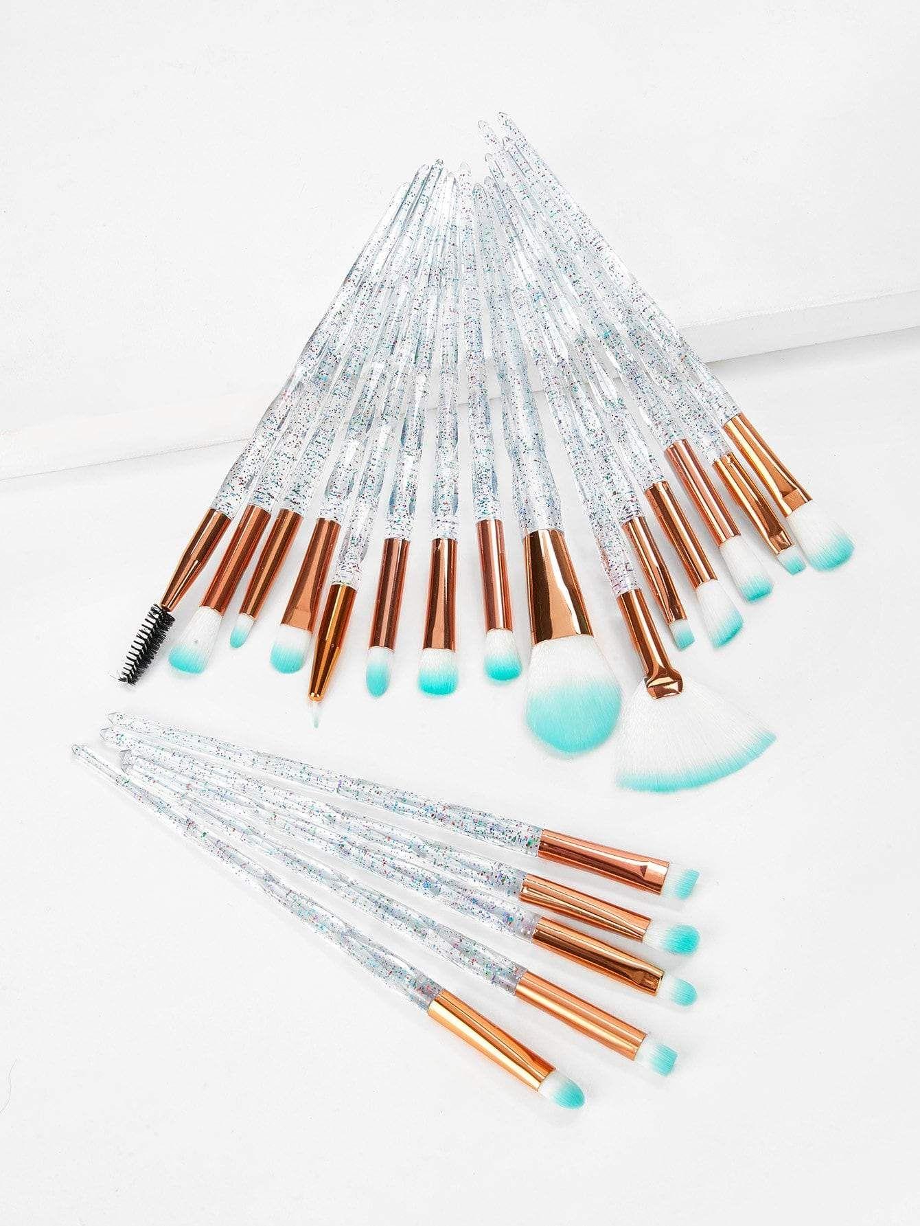 Clear Handle Makeup Brush 20pcs . . . . . . VegasNay