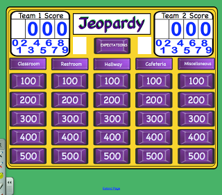 Expectations Jeopardy for the Smartboard (social skills