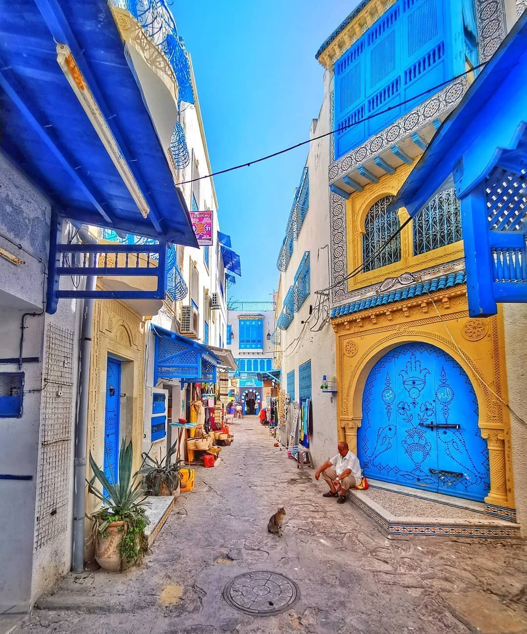 Tunisia Vacations On Instagram When You Get Lost In The Old Medina Of Hammamet You Ll Most Certainly Come Across Streets Like This Tunisia Scenes Hammamet