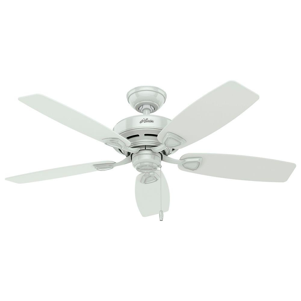Hunter Sea Wind 48 In Indoor Outdoor White Ceiling Fan 53350 The Home Depot White Ceiling Fan Ceiling Fan Outdoor Ceiling Fans