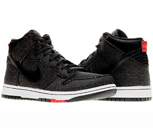Mens Nike Dunk CMFT Comfort SB Shoes BlackUniversity Red 705434001 Size 8