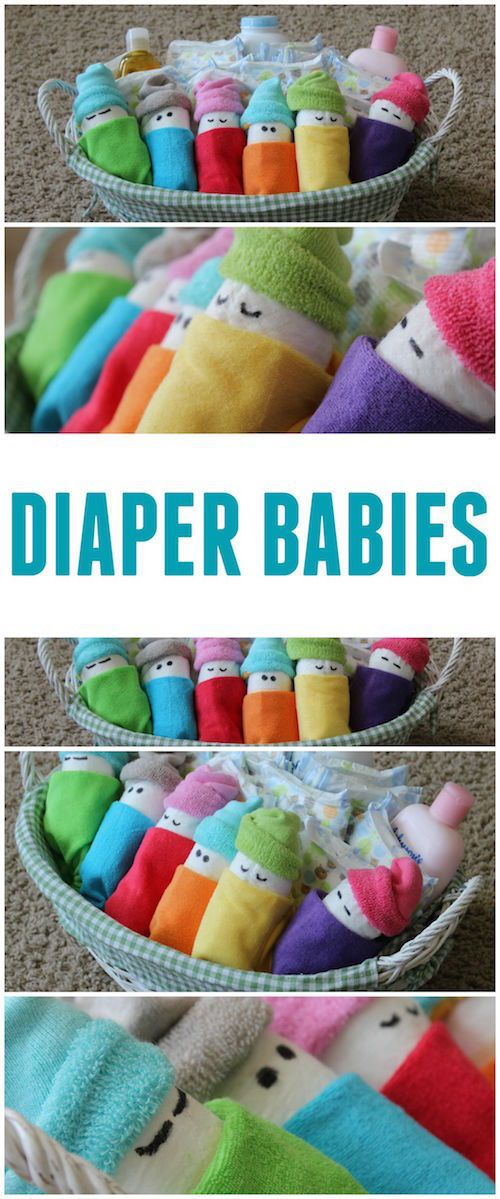 Diaper Babies! I'm definitely saving this idea for the next baby shower I go to!