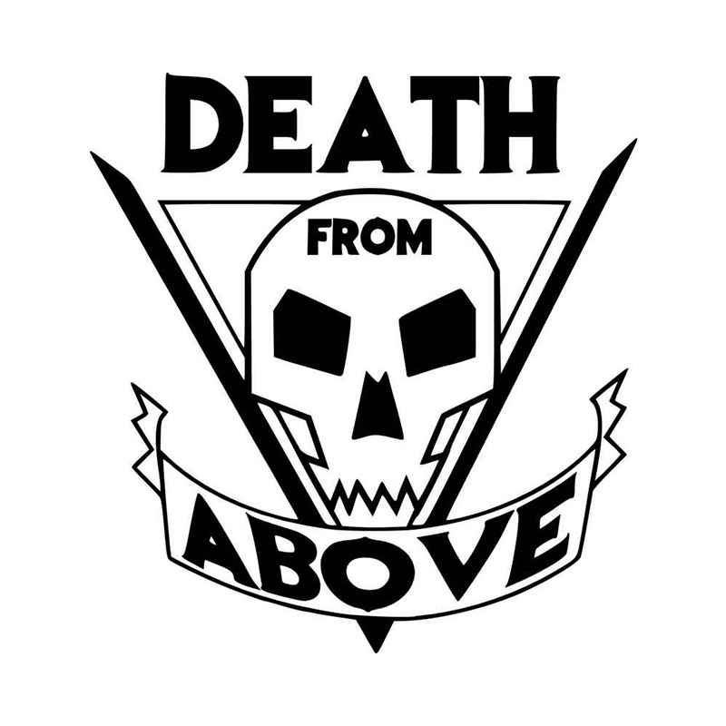 Death from above vinyl decal sticker