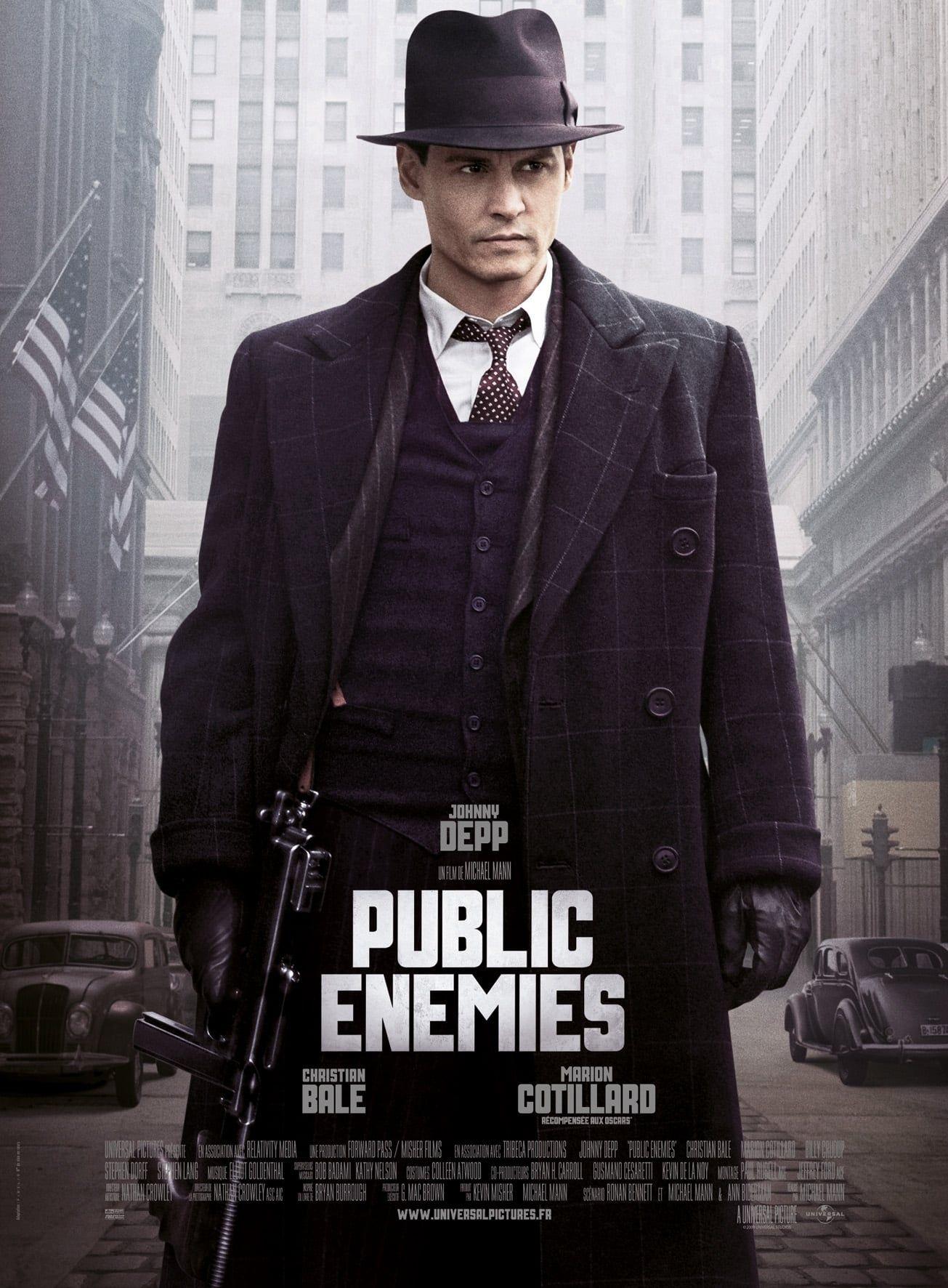 Public Enemies P E L I C U L A Completa 2009 Gratis En Espanol Latino Hd Public Enemy Gangster Movies Johnny Depp