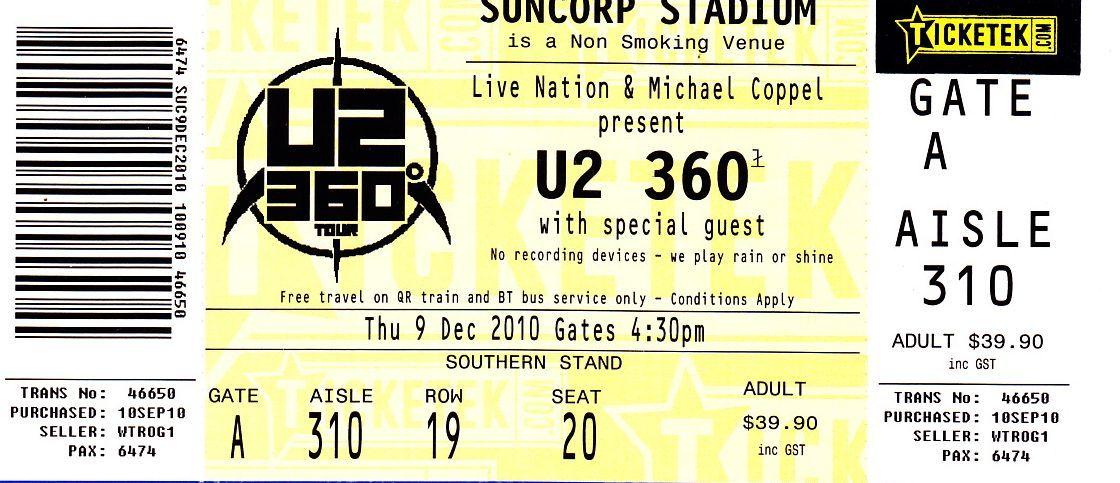 U2, Suncorp Stadium, Brisbane 2011. Brisbane Lifestyle