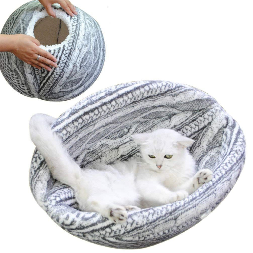 Be Good Cozy Cat Cave Bed Makes Great Covered Cat House And Bed