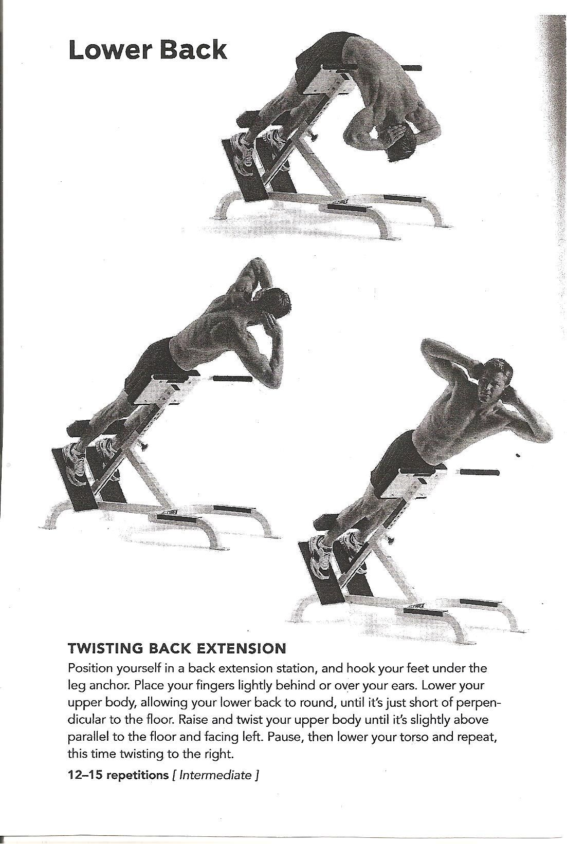 twisting back extension