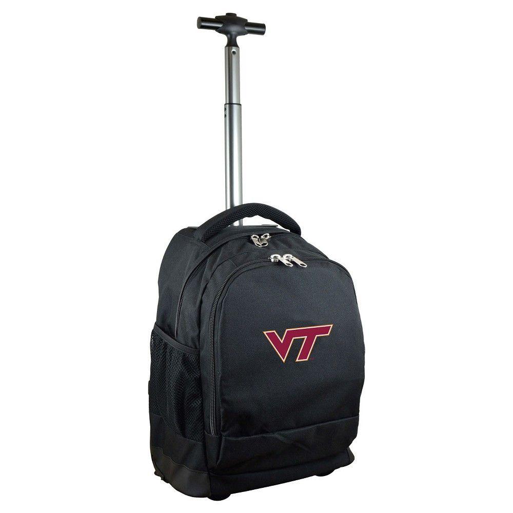 NCAA Virginia Tech Hokies Black Premium Wheeled Backpack