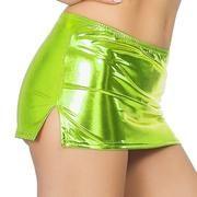 Club Erotic Skirts Low Waist Split Sexy Micro Mini Skirts Faux Patent Leather Skirt Glitter Pole Dance Pencil Tight Miniskirt