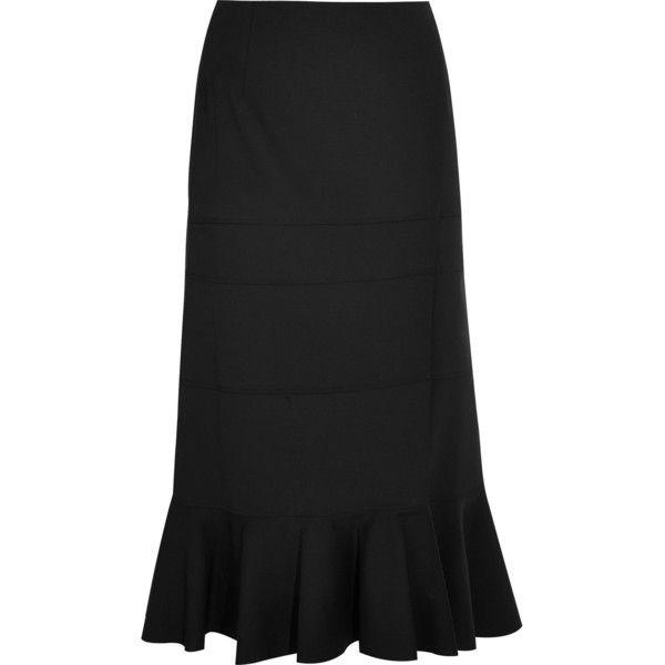 6e808e035985c3 Altuzarra Faulk stretch-wool midi skirt ($400) ❤ liked on Polyvore  featuring skirts, black, calf length skirts, altuzarra, mid calf skirts and midi  skirt