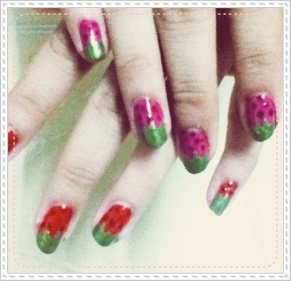 strawberry nail