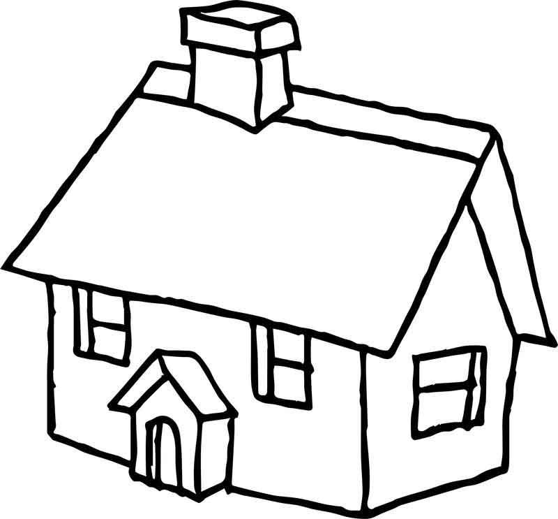 House Cartoon Free Coloring Page Free Coloring Pages Coloring Pages Free Coloring