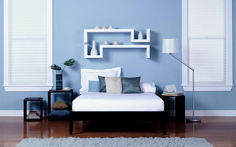 Bedroom Paint Color Selector The Home Depot Modern Bedroom Colors Blue Painted Walls Light Blue Bedroom