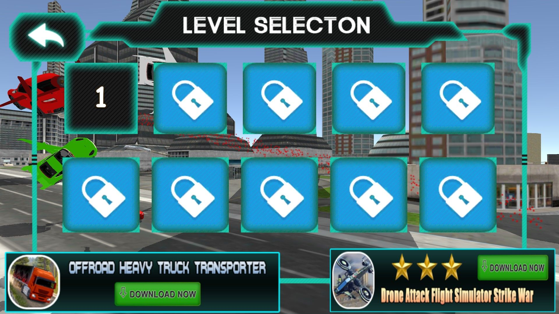 Screenshot Of Level Selection Menu From The Android Game Real
