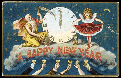 And Happy New Year Vintage Happy New Year Happy New Year Cards New Year Postcard