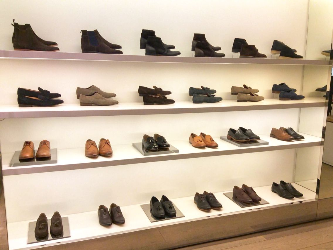 Men's shoes display in Kurt Geiger's Manchester Boutique store. My ...