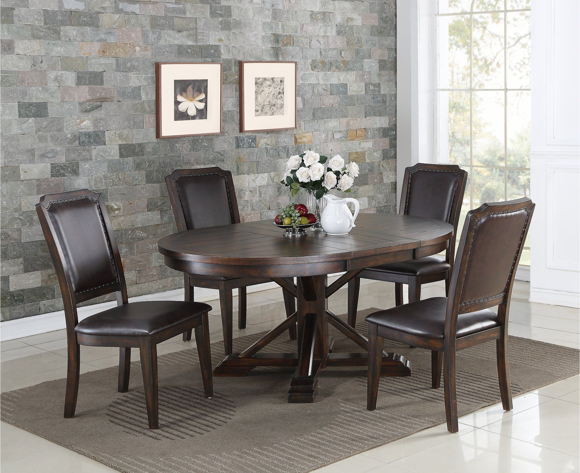 Tobacco Brown Dining Room Table Montreal Round Dining Room Table Brown Dining Room Table Brown Dining Room #rc #willey #living #room #set