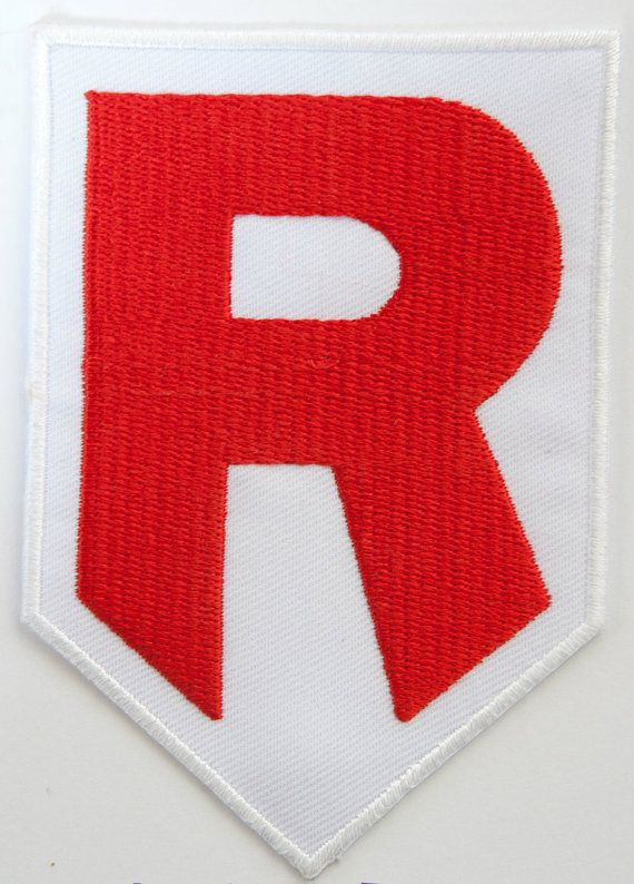 Team Rocket R Logo Patch P A T C H Y Pinterest Team Rocket