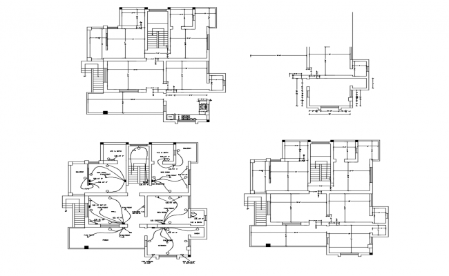 Electrical layout of the residential house in dwg file