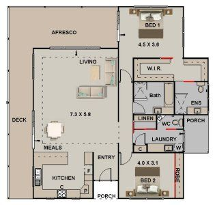 bedroom ranch house plan also tiny pinterest rh uk