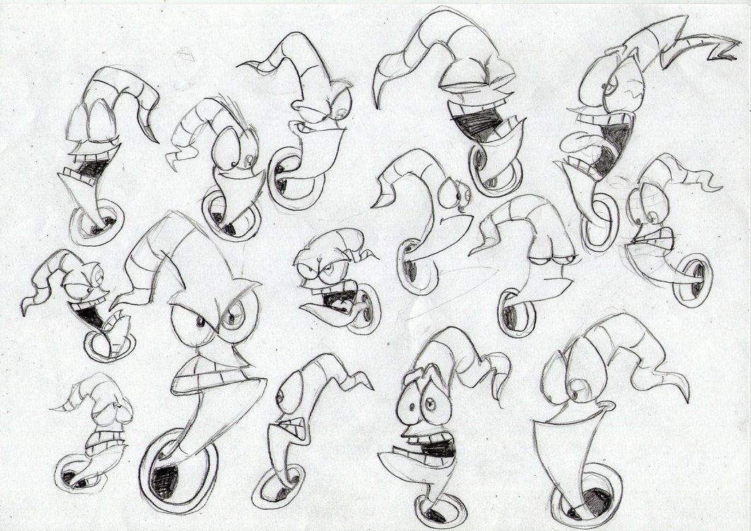 Earthworm Jim Amazing Facial Expressions Character Design Animation Earthworm Jim Character Design