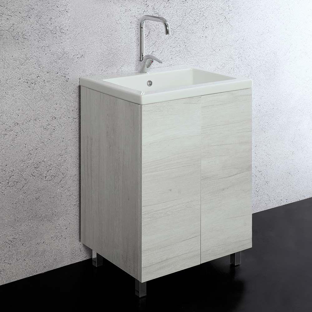 Mobile lavatoio Unika 60x50 con vasca in ceramica Danubio