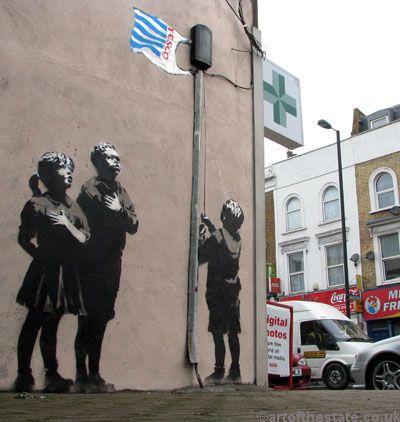 Banksy Tesco Pledge Your Allegiance Street Art Banksy Famous Graffiti Artists Best Street Art