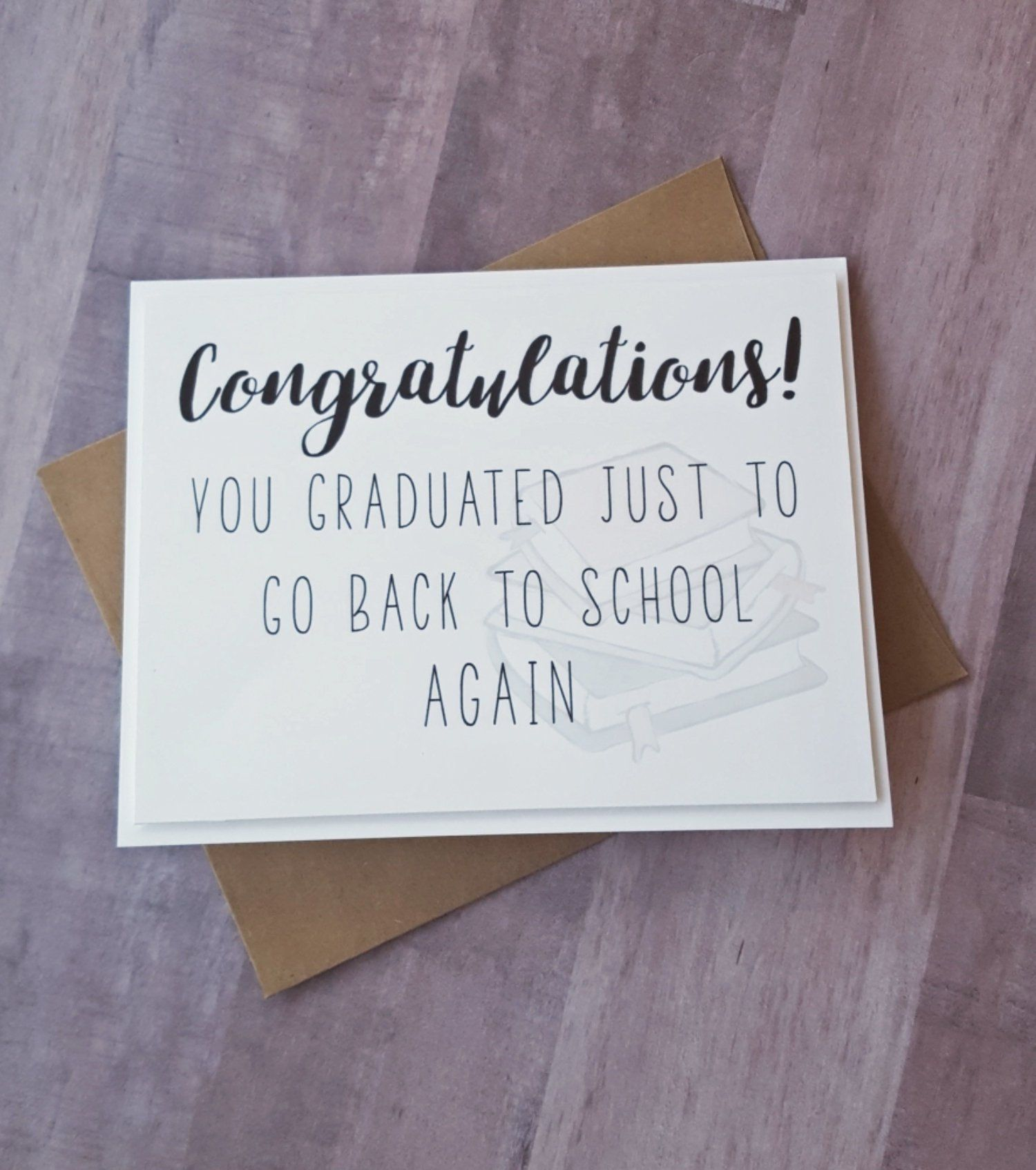 Thanks For The Kind Words Arrived Quick Nice Card Looks Like The Picture Co Congratulations Graduate Graduation Card Sayings Funny Graduation Cards