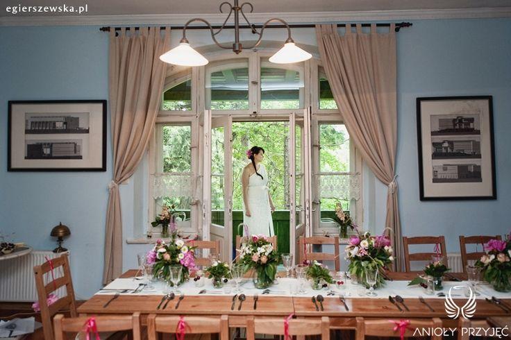 5. Cherry Wedding,Centerpiece,Field flowers / Czereśniowe wesele,Dekoracje stołu,Polne kwiaty,Anioły Przyjęć