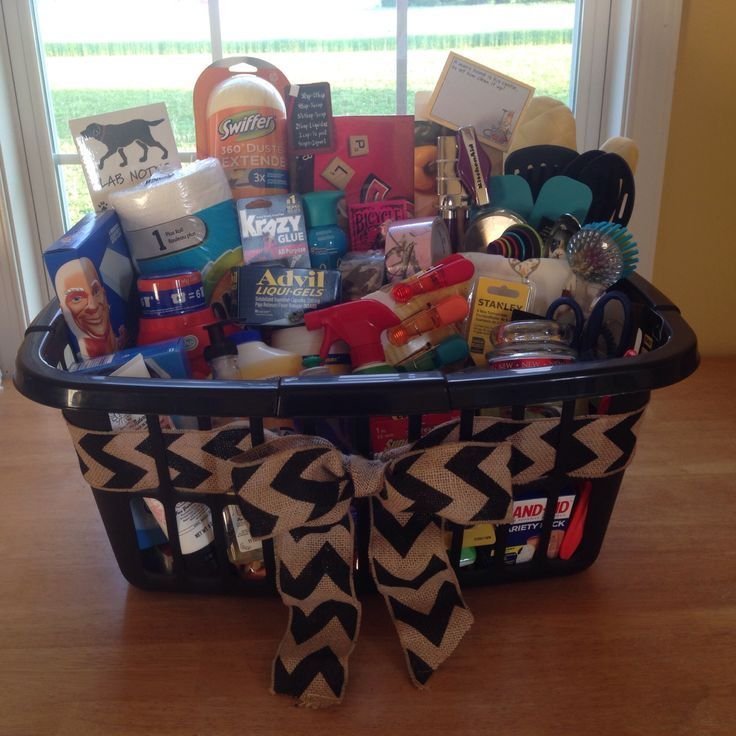 Housewarming basket for some friends complete with cleaning stuff ...