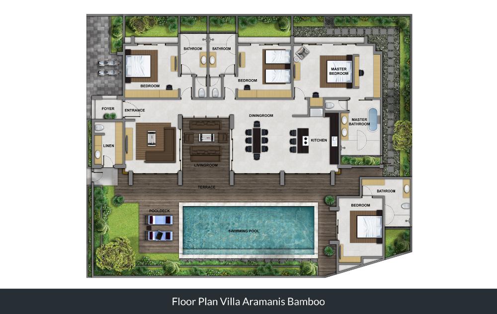 Bamboo Floorplan Bali Villas Floor Plans Villa Hotel Plan