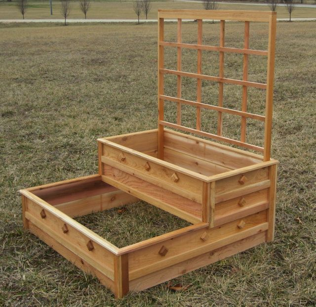 Green Thumb Duplex Raised Garden Box -   23 deck garden boxes