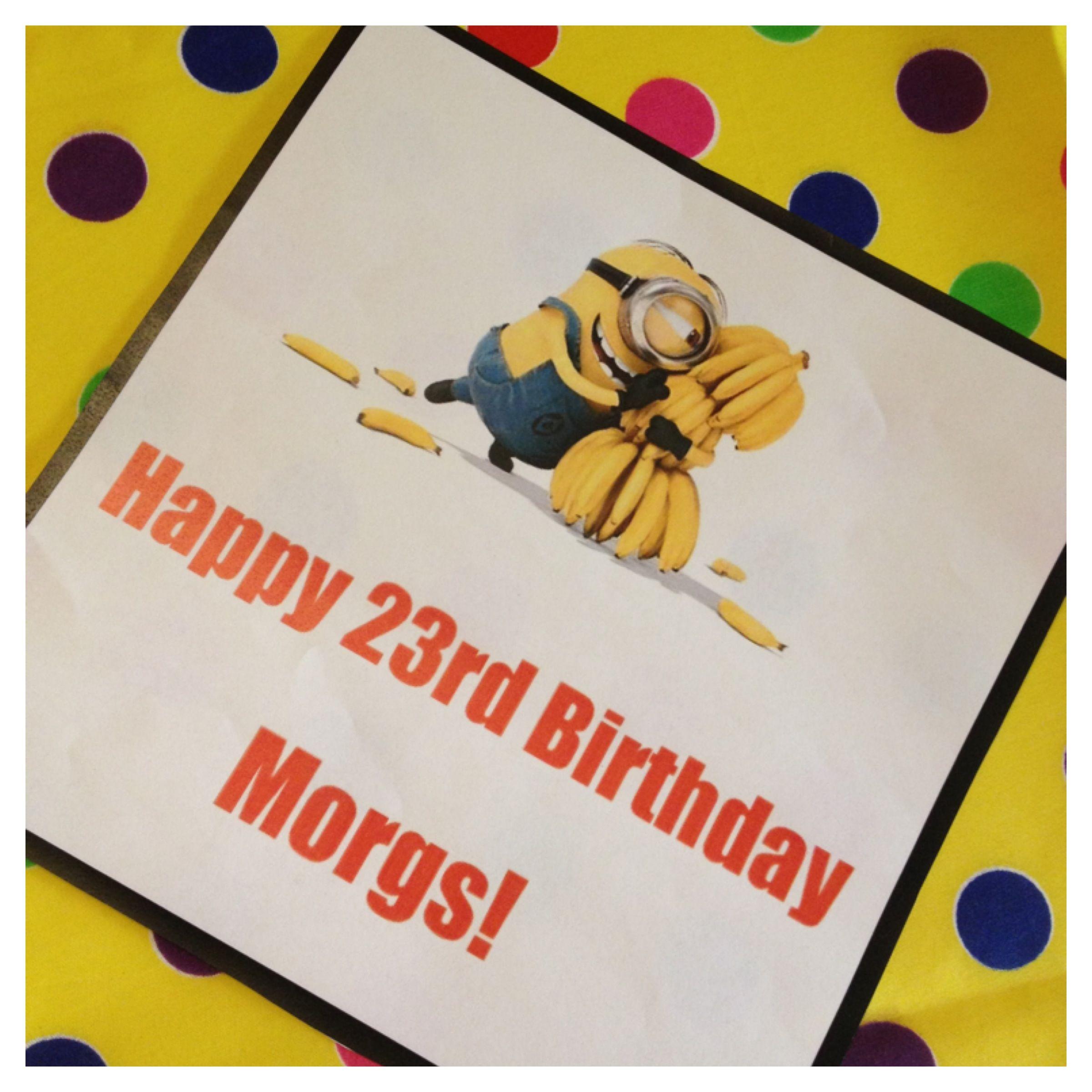 minion printables  happy 23rd birthday minion birthday