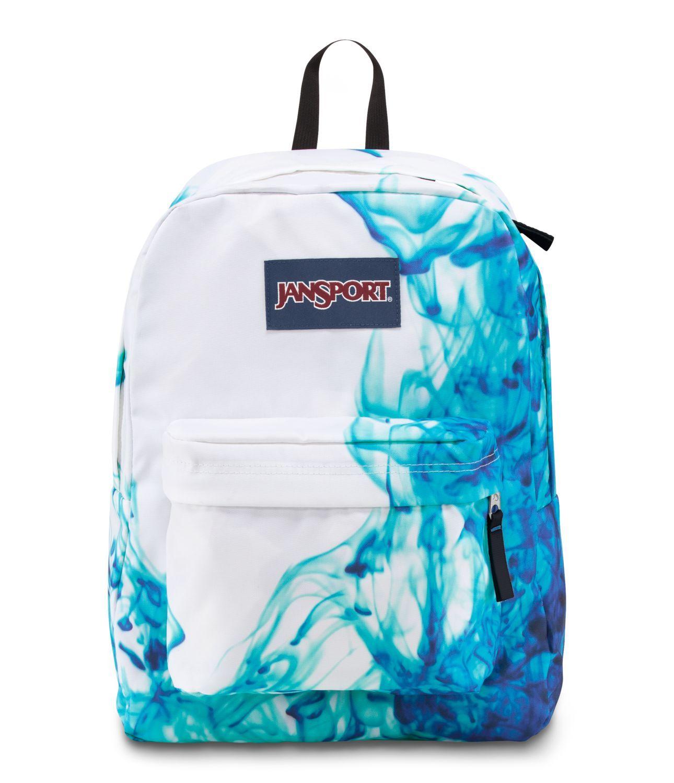 JanSport SuperBreak School Backpack - Multi/Blue Drip Dye ...