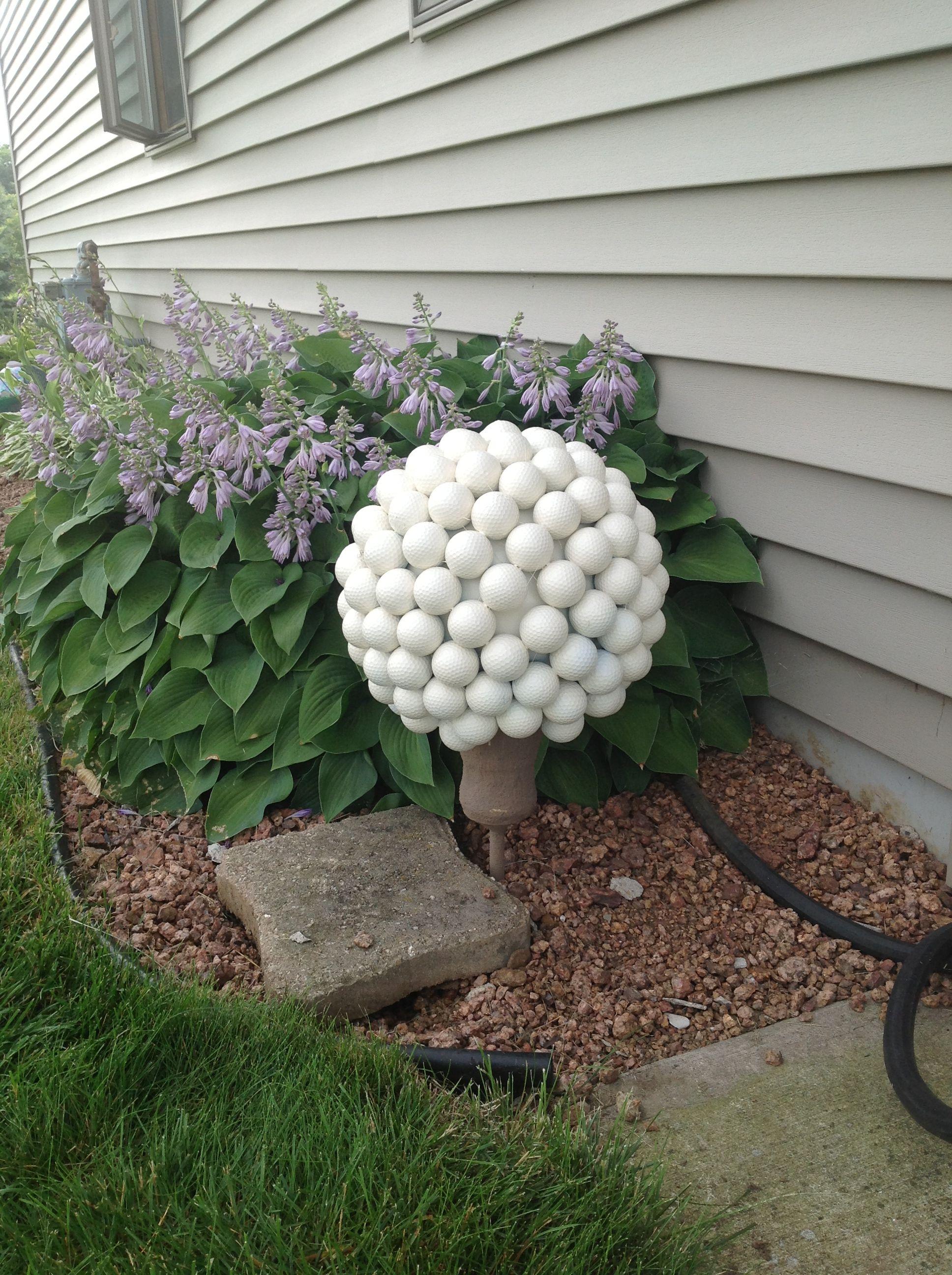 Golf Ball Flowers Garden Art