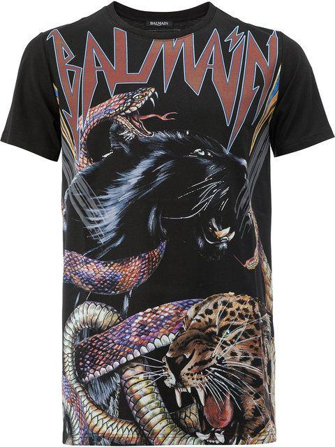 34d03c42c BALMAIN Animal Print T-Shirt. #balmain #cloth #t-shirt | Balmain Men ...