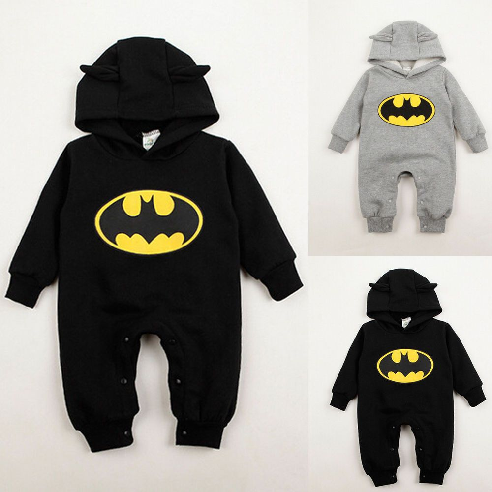 871d2ca1b7b7 NWT Baby Boys Romper Bodysuit Newborn Hoodies Batman One-piece ...
