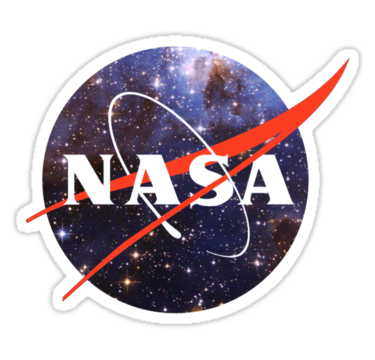 'nasa space' Sticker b...