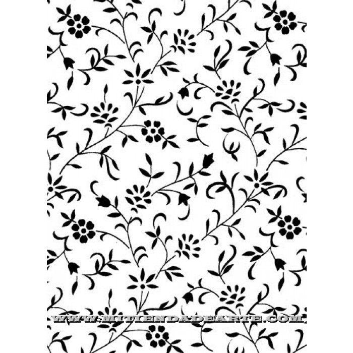 Papeles para decoraci n en blanco y negro hojas y flores - Decoracion blanco y negro ...