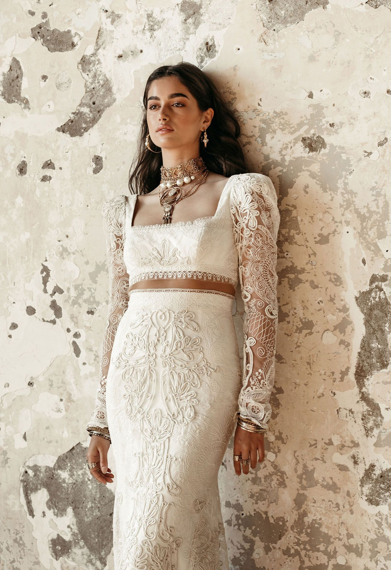 Rue De Seine 2020 Collection Exclusive First Look At Golden Rhapsody In 2020 Wedding Dress Shopping White Beach Wedding Dresses Bohemian Wedding Dresses