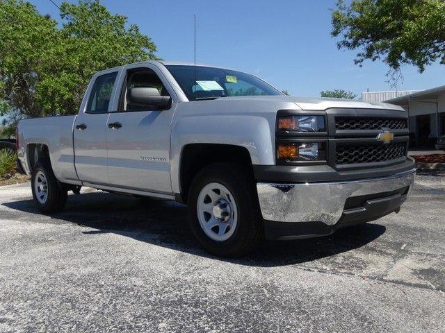 2014 Chevrolet Silverado 1500 Work Truck Crew Cab 4x2 Silver