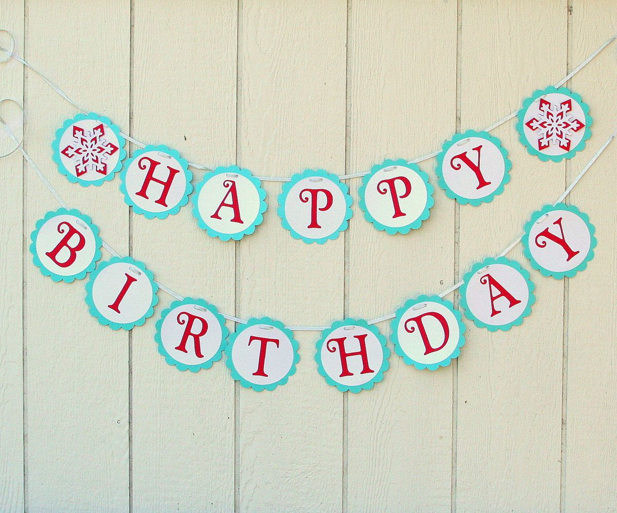 Snowflake ONE Age High Chair Birthday Party Banner Sign Purple Aqua Turquoise Blue Teal Silver