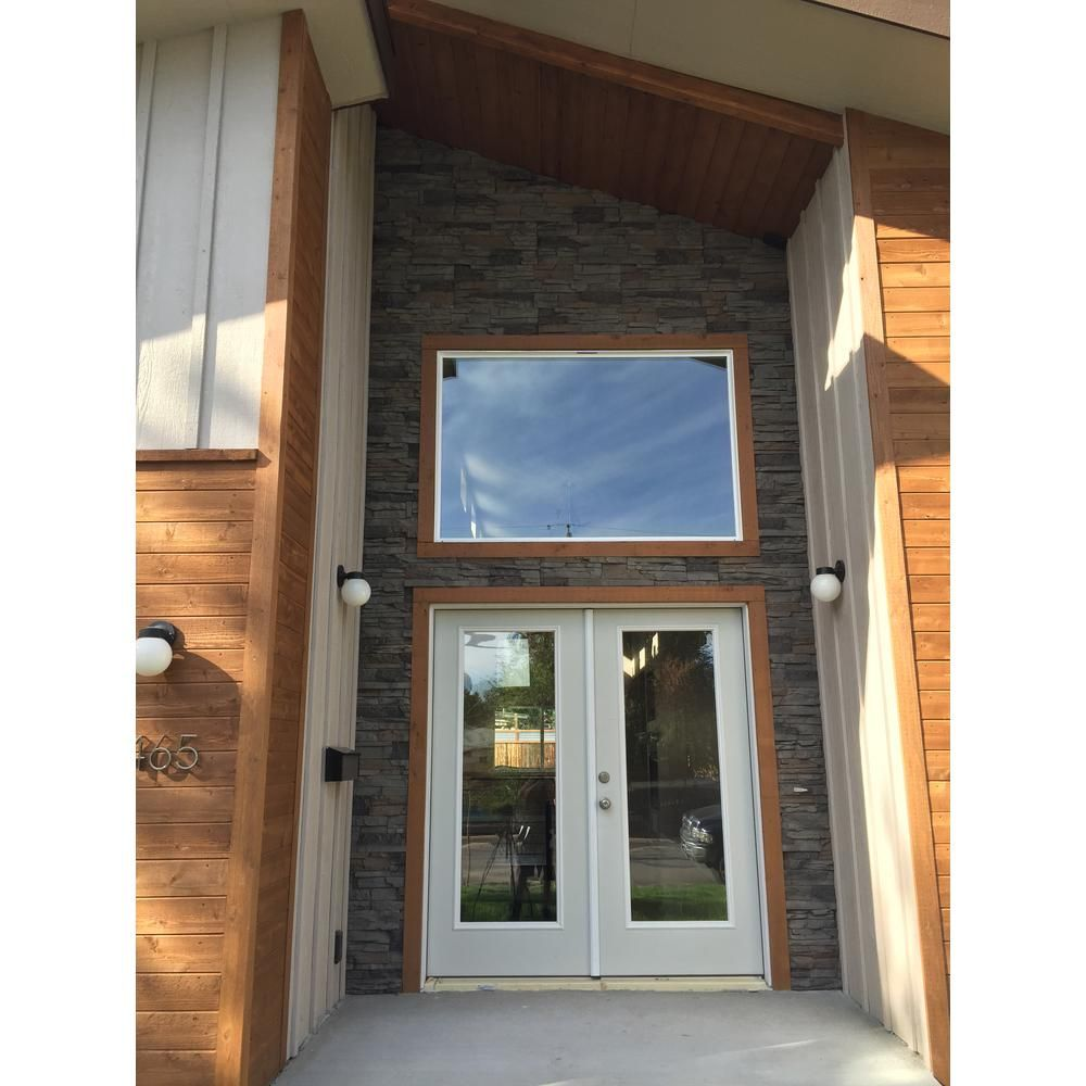 Genstone Stacked Stone Kenai 12 In X 42 In Faux Stone Siding Half Panel Sskihp The Home Depot Faux Stone Veneer Stacked Stone Stone Siding