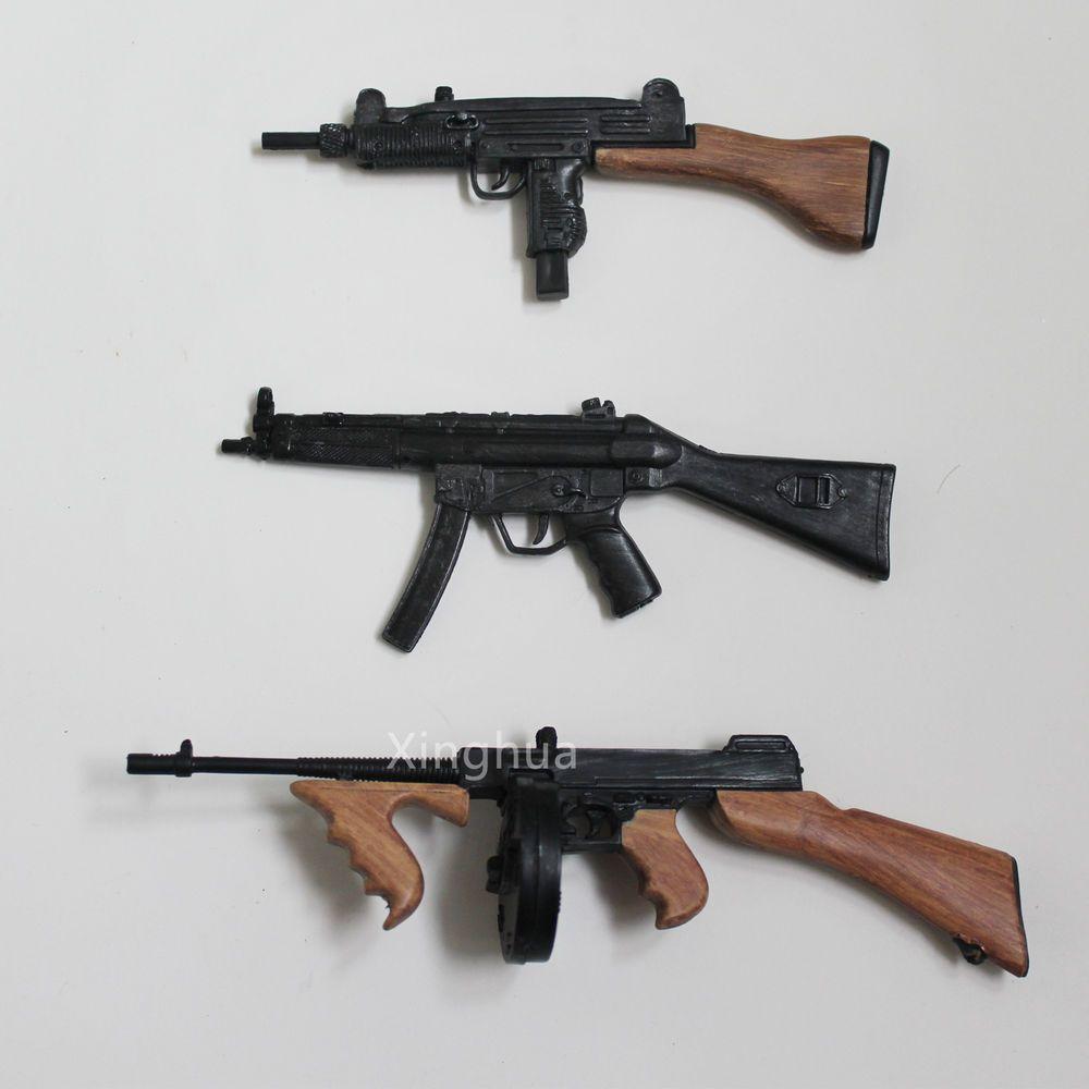 1:6 Scale Weapon Set Mini Uzi Mp5 A2 TOMPSEN 1928 Submachine Gun SMG Toy Soldier #Unbranded