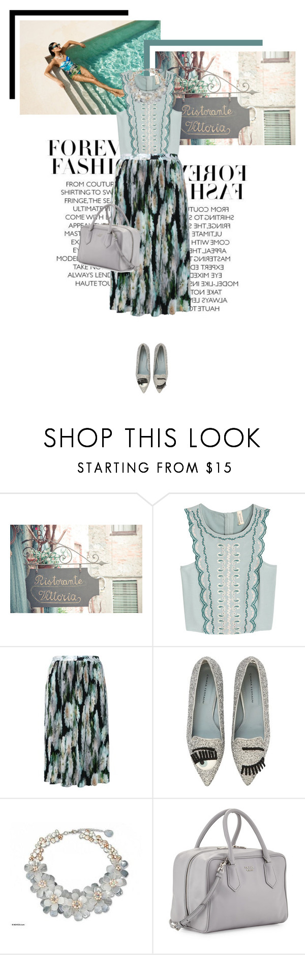 """""""It's all about mint"""" by veronicamastalli ❤ liked on Polyvore featuring We Are Handsome, Tiffany & Co., ADAM, Chiara Ferragni, NOVICA and Prada"""