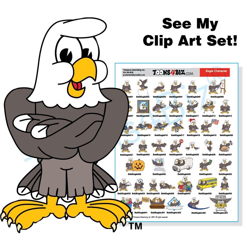 Eagle mascot clipart school sports theme eagle mascot